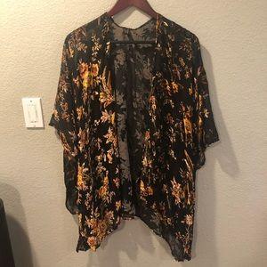 Gold and black kimono